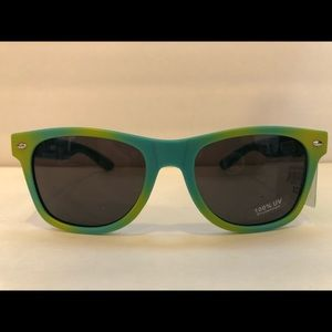Fantas-Eye Sunglasses - Green and Yellow Tie Dye